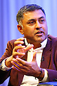 SoftBank President &amp; COO Nikesh Arora attends companys special lecture in Tokyo, Japan on October 22, 2015.<br /> SoftBank Chairman &amp; CEO Masayoshi Son and group President &amp; COO Nikesh Arora discuss the SoftBank Group's Global Strategy, Leadership and other themes in a special fireside lecture<br /> (without fire) as part of the SoftBank Academia series. Via the series, which is also broadcast via webcast, SoftBank hopes to inspire and recruit potential leaders of the company. (Photo by Shingo Ito/AFLO)