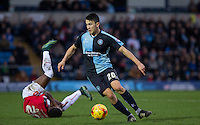 Luke O'Nien of Wycombe Wanderers in action during the Sky Bet League 2 match between Wycombe Wanderers and Crawley Town at Adams Park, High Wycombe, England on 28 December 2015. Photo by Andy Rowland / PRiME Media Images
