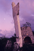 Christ of the Caribbean statue<br /> no longer standing at Peace Hill<br /> Virgin Islands National Park<br /> St. John<br /> U.S. Virgin Islands