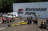 Jun. 3, 2012; Englishtown, NJ, USA: NHRA top fuel dragster driver Morgan Lucas during the Supernationals at Raceway Park. Mandatory Credit: Mark J. Rebilas-