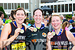 Grainne Ní Chonchúir, Claire Finn and Nicola Sheehy Dingle of the Killarney Run half marathon in the Gleneagle Hotel on Saturday