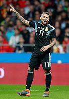 Argentina's Nicolas Otamendi during international friendly match. March 27,2018. *** Local Caption *** © pixathlon<br /> Contact: +49-40-22 63 02 60 , info@pixathlon.de