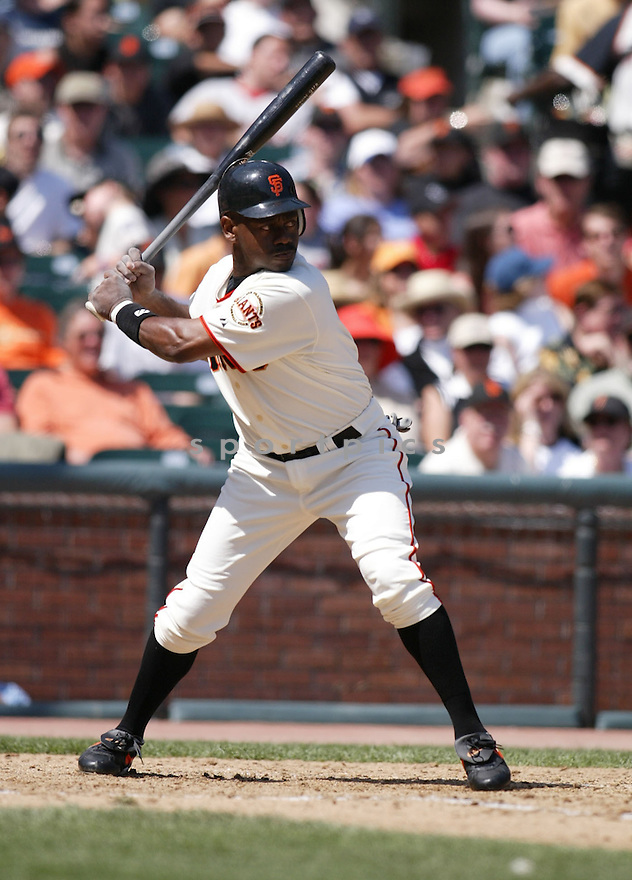Marquis Grissom during the San Francisco Giants v. Colorado Rockies game on April 10, 2005...San Francisco wins 11-4..Rob Holt / SportPics