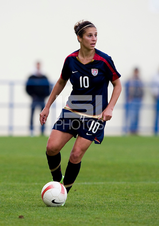 Carli Lloyd.  The USWNT defeated Iceland, 1-0, at Ferreiras, Portugal.