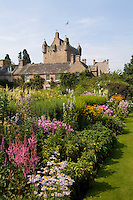 Beautiful gardens at the Cawdor Castle, Cawdor, Scotland