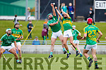 Mikey Boyle (Captain) Ballyduff in action against John Griffin Lixnaw in the Senior County Hurling Final in Austin Stack Park on Sunday