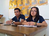 Querétaro, Qro. 24 Enero 2014.- Los coordinadores del Movimiwnto Testominio y Esperanza, Ely Rezéndiz y Víctor Gutiérrez, dieron a conocer de la presencia que tendrá el contingente de la diocesis de querétaro en la XXXI Peregrinación nacional juvenil a la Montaña de Cristo Rey, en Silao, Guanajuato este rpóximo sábado 25 de enero. El tema de este año, además de la oración, será pedír (rezar) por la paz en México. <br /> <br /> En el evento iniciará en el Valle Juan pablo II, en la comunidad de Aguas Buenas, en el municipio de Silao, para emprender el asenso a la Montaña de Cristo Rey. Se espera que la misa sea oficiada por 30 sacerdotes incluyendo la asistencia del obispo de la diocesis de Querétaro, Faustino Armendarz, además de Christophe Pierre, nuncio apostólico den México. <br /> <br /> Foto: Demian Chávez / Obture Press Agency.