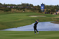Carlota Ciganda of Team Europe on the 9th fairway during Day 1 Fourball at the Solheim Cup 2019, Gleneagles Golf CLub, Auchterarder, Perthshire, Scotland. 13/09/2019.<br /> Picture Thos Caffrey / Golffile.ie<br /> <br /> All photo usage must carry mandatory copyright credit (© Golffile | Thos Caffrey)
