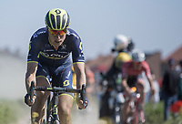 Jens Keukeleire (BEL/Orica Scott) on pav&eacute; sector 20: Haveluy to Wallers<br /> <br /> 115th Paris-Roubaix 2017 (1.UWT)<br /> One day race: Compi&egrave;gne &gt; Roubaix (257km)