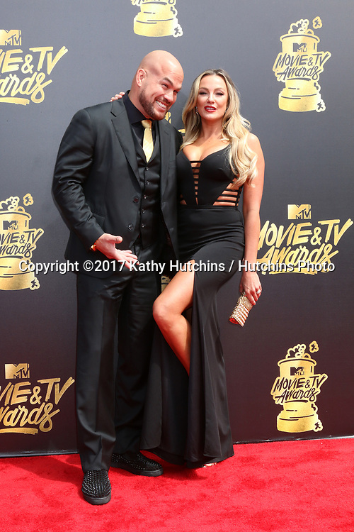 LOS ANGELES - MAY 7:  Tito Ortiz, Amber Nicole Miller at the MTV Movie and Television Awards on the Shrine Auditorium on May 7, 2017 in Los Angeles, CA