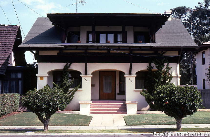 San Diego: Fehlman House, 2470 A Street, 1910. Del W. Harris. (Photo '82)