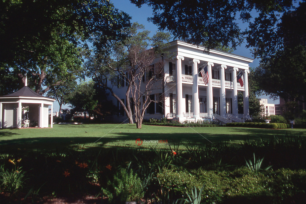 Vintage view of Texas Governor's Mansion in May 1990. The Texas Governor's Mansion, also known simply as Governor's Mansion is a historic home for the Governor of Texas in downtown Austin, Texas.