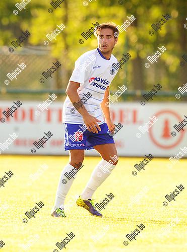 2014-07-23 / Voetbal / seizoen 2014-2015 / KSK Heist / Matthias Pittoors<br /><br />Foto: mpics.be