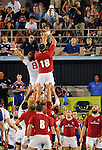 August 13, 2011:  A second half throw-in during the pre World Cup test match between Canada and USA's national teams at Infinity Park, Glendale, Colorado.  Canada defeated USA 27-7.     .. ...