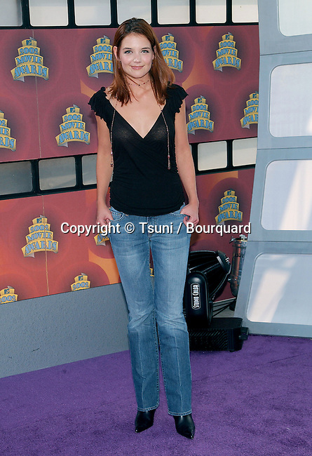 Katie Holmes arrival of the 2002 MTV movie Awards at the Shrine Auditorium in Los Angeles. June 1, 2002.
