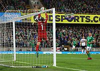 Torwart Manuel Neuer (Deutschland Germany) haelt - 09.09.2019: Nordirland vs. Deutschland, Windsor Park Belfast, EM-Qualifikation DISCLAIMER: DFB regulations prohibit any use of photographs as image sequences and/or quasi-video.