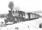 The northbound Santa Fe passenger train somewhere north of Santa Fe.<br /> D&amp;RGW  Santa Fe Branch, NM  Taken by Perry, Otto C. - 4/17/1933