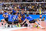 11.05.2019, Scharrena, Stuttgart<br />Volleyball, Bundesliga Frauen, Play-offs Finale, 5. Spiel, Allianz MTV Stuttgart vs. SSC Palmberg Schwerin<br /><br />Jubel Stuttgart nach Matchball / Sieg<br /><br />  Foto © nordphoto / Kurth