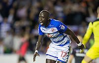 Modou Barrow of Reading turns to celebrate scoring his first goal for the club making it 2 0 during the Sky Bet Championship match between Reading and Aston Villa at the Madejski Stadium, Reading, England on 15 August 2017. Photo by Andy Rowland / PRiME Media Images.<br /> **EDITORIAL USE ONLY FA Premier League and Football League are subject to DataCo Licence.