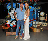 Peter Andre and Emily MacDonagh at the &quot;Thomas &amp; Friends: Big World! Big Adventures!&quot; UK film premiere, Vue West End, Leicester Square, London, England, UK, on Saturday 07 July 2018.<br /> CAP/CAN<br /> &copy;CAN/Capital Pictures