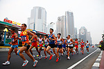 General view, <br /> AUGUST 25, 2018 - Athletics - Marathon : <br /> Men's Marathon <br /> at Marathon Course <br /> during the 2018 Jakarta Palembang Asian Games <br /> in Jakarta, Indonesia. <br /> (Photo by Naoki Morita/AFLO SPORT)