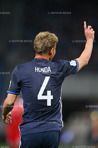 Keisuke Honda (JPN), MARCH 29, 2016 - Football / Soccer : FIFA World Cup Russia 2018 Asian Qualifier Second Round Group E match between Japan 5-0 Syria at Saitama Stadium 2002, Saitama, Japan. (Photo by YUTAKA/AFLO SPORT)