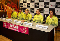 April 15, 2015, Netherlands, Den Bosch, Maaspoort, Fedcup Netherlands-Australia,   Press conference Australian team<br /> Photo: Tennisimages/Henk Koster
