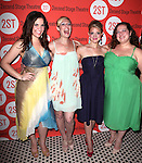 Lindsay Mendez, Becca Ayers, Annaleigh Ashford & Dierdre Friel .attending the after Party for Off-Broadway Opening Night Performance of Second Stage Theatre's 'Dogfight' at HB Burger in New York City.