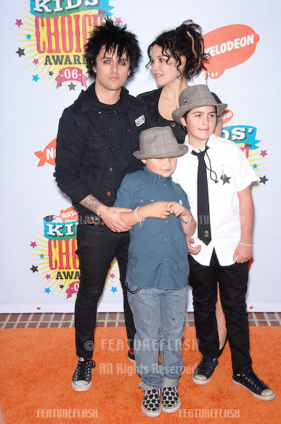 Green Day lead singer BILLIE JOE ARMSTRONG & family at the 2006 Nickelodeon Kids Choice Awards at UCLA Los Angeles..April 1, 2006 Los Angeles, CA.© 2006 Paul Smith / Featureflash