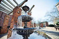 Cold temperatures in Starkville this week create icicles on the fountain outside of Mississippi State&rsquo;s Chapel of Memories. Temperatures are expected to rise back above freezing briefly Wednesday [Jan. 3] afternoon, but will dip below freezing again Wednesday night.<br />