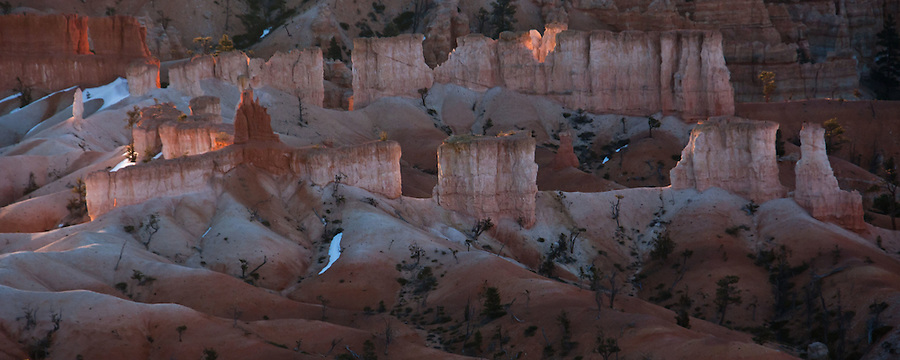 Hoodoos glowing at Sunrise - Bryce Canyon, Utah