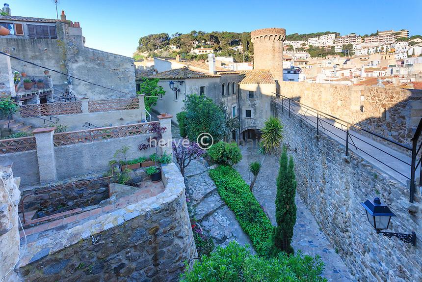 Espagne, Catalogne, Costa Brava, Tossa de Mar, dans la Vila Vella ou Vieille Ville // Spain, Catalonia, Costa Brava, Tossa de Mar, inside the Vila Vella