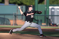Travis Eckert (32) of the Oregon State Beavers pitches during a game against the UCLA Bruins at Jackie Robinson Stadium on April 4, 2015 in Los Angeles, California. UCLA defeated Oregon State, 10-5. (Larry Goren/Four Seam Images)