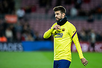 30th January 2020; Camp Nou, Barcelona, Catalonia, Spain; Copa Del Rey Football, Barcelona versus Leganes; Gerard Pique of FC Barcelona  during warm up