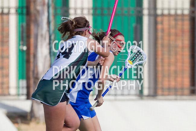 San Diego, CA 04/19/10 - Heidi Halsted (St. Ignatius #9) and Mollie Privett (Coronado #14) in action during the St Ignatius-Coronado game.