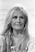 Montreal (Qc) CANADA August 29, 1986 File Photo of<br /> <br /> Singer Dalida at a press conference for a movie in which she plays, at the World Film Festival.<br /> <br /> photo : Pierre Roussel (c)  Images Distribution