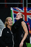 Katrina Grant of New Zealand reacts after losing to England. Gold Coast 2018 Commonwealth Games, Netball, New Zealand Silver Ferns v England, Gold Coast Convention and Exhibition Centre, Gold Coast, Australia. 11 April 2018 © Copyright Photo: Anthony Au-Yeung / www.photosport.nz /SWpix.com