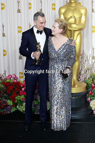 Daniel Day-Lewis Meryl Streep attending the 85th Academy Awards at the Hollywood and Highland Center in Hollywood, California, 24.02.2013...Credit: MediaPunch/face to face..- Germany, Austria, Switzerland, Eastern Europe, Australia, UK, USA, Taiwan, Singapore, China, Malaysia and Thailand rights only -