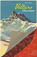 BNPS.co.uk (01202 558833)<br /> Pic: Lyon&Turnbull/BNPS<br /> <br /> Pictured: Villars priced sold for £5250<br /> <br /> A stunning set of vintage ski posters depicting the halcyon days of European winter holidays have sold for over £116,000.<br /> <br /> They featured early lithograph prints of advertising posters for glamorous resorts including Champery and Gstaad.<br /> <br /> The earliest posters in the sale dated from the turn of the 20th century, with the most recent examples from the 1960s.<br /> <br /> As transport links improved in the 1920s and '30s, skiing holidays grew in popularity.