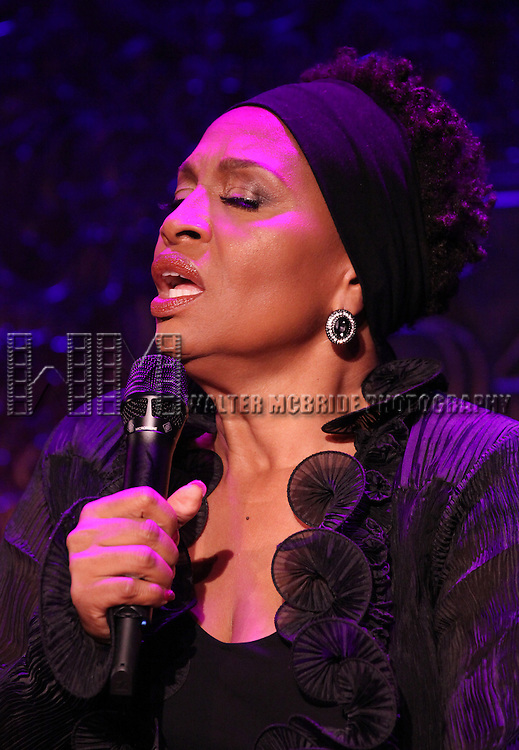 Jennifer Lewis with Marc Shaiman at Piano performing at a press preview at 54 Below in New York City on 7/23/2012