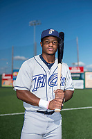 Tri-City Dust Devils shortstop Xavier Edwards (2) poses for a photo before a Northwest League game against the Everett AquaSox at Everett Memorial Stadium on September 3, 2018 in Everett, Washington. The Everett AquaSox defeated the Tri-City Dust Devils by a score of 8-3. (Zachary Lucy/Four Seam Images)