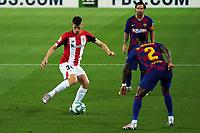 23rd June 2020, Camp Nou, Barcelona, Spain; La Liga Football league, FC Barcelona versus Athletico Bilbao;  Oihan Sancet gets his cross into the box past Semedo of Barcelona