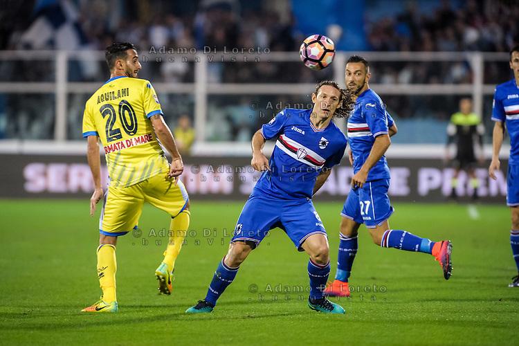Barreto Edgar (Sampdoria) during the Italian Serie A football match Pescara vs Sampdoria on October 15, 2016, in Pescara, Italy. Photo Adamo Di Loreto/BuenaVista*photo