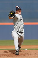 Joe Savery of the Rice Owls during a game against the Cal State Fullerton Titans at Goodwin Field on March 4, 2007 in Fullerton, California. (Larry Goren/Four Seam Images)