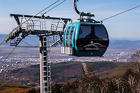 Russia, Sakhalin, Yuzhno-Sakhalinsk. Gorny Vozdukh Ski center is an alpine complex located within Yuzhno-Sakhalinsk city, with a brand new gondola lift.