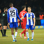 19.01.2020, OLympiastadion, Berlin, GER, DFL, 1.FBL, Hertha BSC VS. Bayern Muenchen, <br /> DFL  regulations prohibit any use of photographs as image sequences and/or quasi-video<br /> im Bild Santiago Ascacibar (Hertha BSC Berlin #18), Jordan Torunarigha (Hertha BSC Berlin #25)<br /> <br />       <br /> Foto © nordphoto / Engler