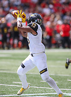 College Park, MD - September 9, 2017: Towson Tigers running back Shane Simpson (13) catches a pass during game between Towson and Maryland at  Capital One Field at Maryland Stadium in College Park, MD.  (Photo by Elliott Brown/Media Images International)