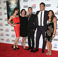 12 November 2017 - Hollywood, California - Betsy Franco-Feeney, Joanne Schermerhorn, Alison Brie, Dave Franco, James Franco. &quot;The Disaster Artist&quot; AFI FEST 2017 Screening held at TCL Chinese Theatre. <br /> CAP/ADM/FS<br /> &copy;FS/ADM/Capital Pictures
