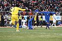 Ichiritsu Funabashi team group (Ichifuna),.JANUARY 9, 2012 - Football / Soccer :.Keisuke Tsumita #1, Takamasa Taneoka #3 and Yuta Koide #4 of Ichiritsu Funabashi celebrate as Yusuke Kawashima #10 of okkaichi Chuo Kogyo looks dejected at the end of the 90th All Japan High School Soccer Tournament final match between Ichiritsu Funabashi 2-1 Yokkaichi Chuo Kogyo at National Stadium in Tokyo, Japan. (Photo by Hiroyuki Sato/AFLO)