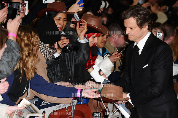 Colin Firth arriving for the World Premiere of Gambit, at the Empire Leicester Square, London. 07/11/2012 Picture by: Steve Vas / Featureflash